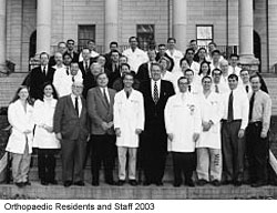Orthopaedic Residents and Staff 2003