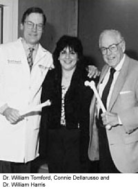 Dr. William Tomford, Connie Dellarusso and Dr. William Harris